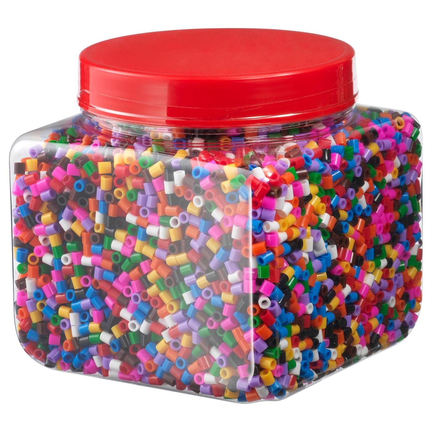 Ikea 14 000 Bugelperlen Verschiedene Farben Steckperlenplatte