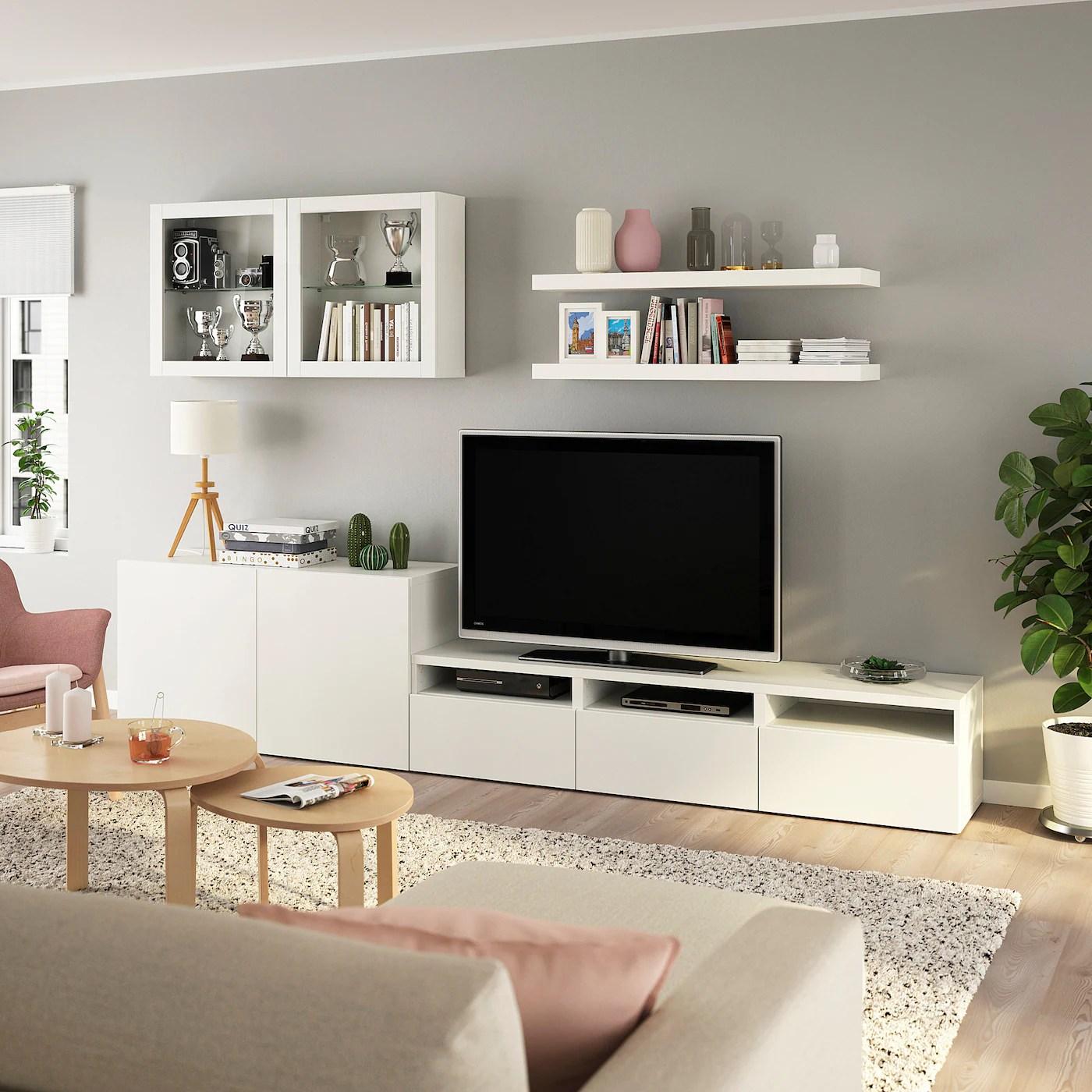 Besta Lack Tv Storage Combination White Ikea