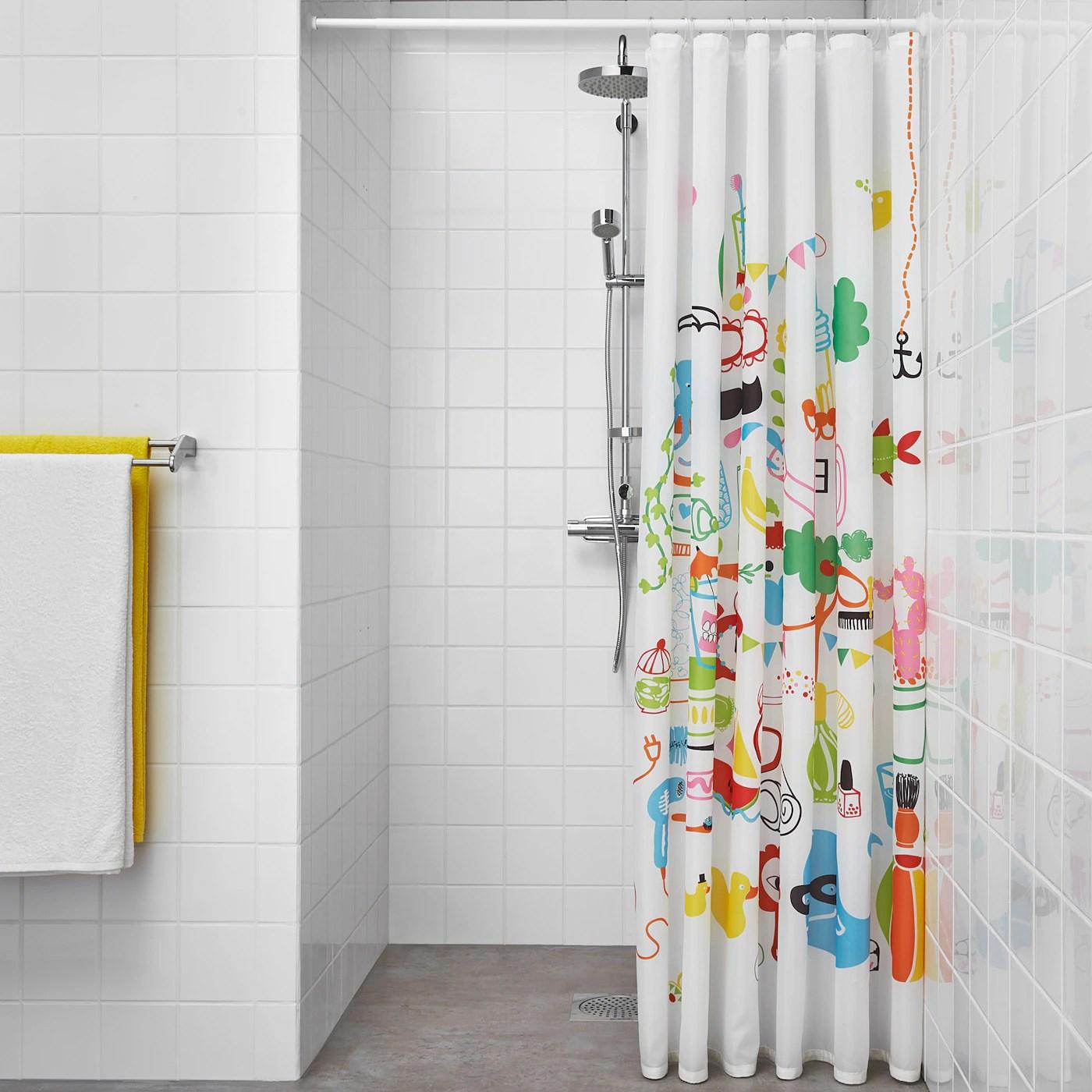 botaren shower curtain rod white 70 120 cm