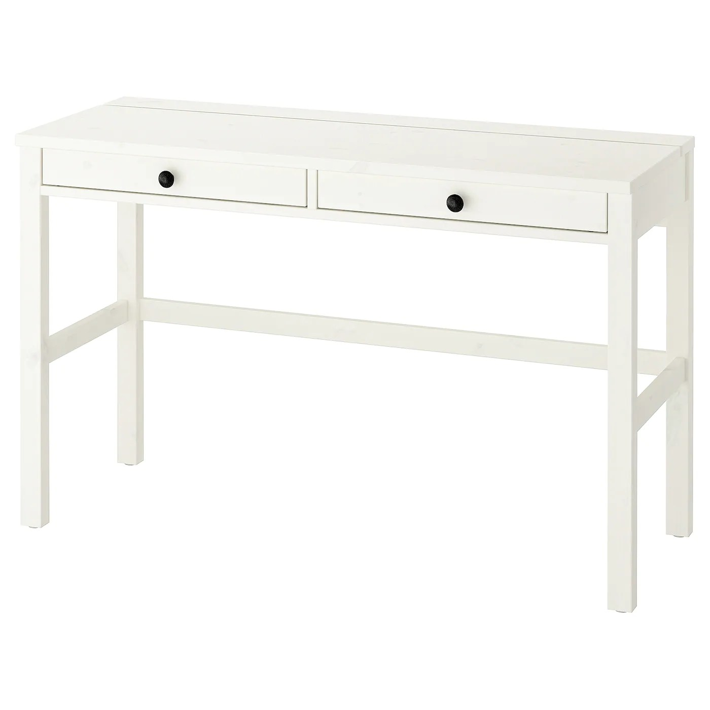 hemnes desk with 2 drawers white stain 120x47 cm