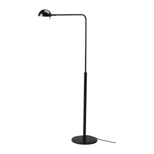 IKEA 365+ BRASA Floor/reading lamp, black Height: 131 cm Base diameter: 26 cm Shade diameter: 13 cm Cord length: 2.0 m