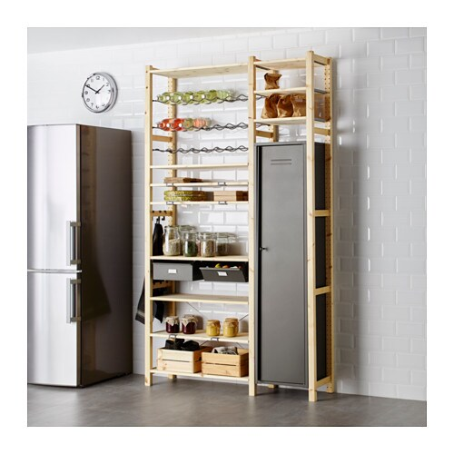 IVAR 2 sections/shelves/cabinet IKEA