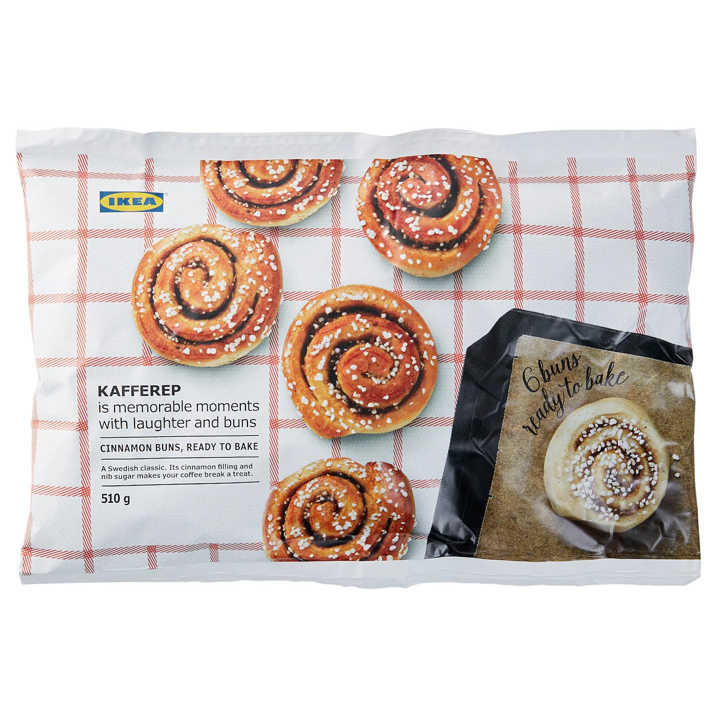 Calories in IKEA Cinnamon Buns, frozen, ready to bake