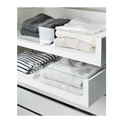 KOMPLEMENT Drawer with glass front IKEA 10 year guarantee. Read about the terms in the guarantee brochure.