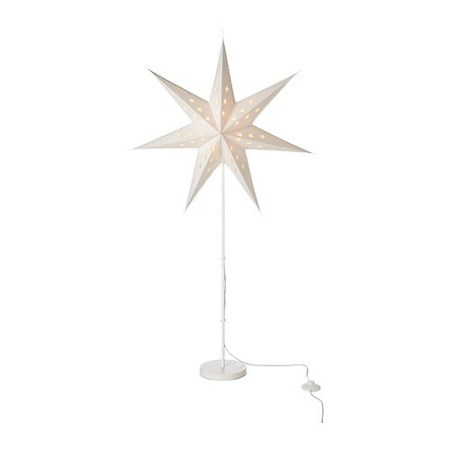 STRÅLA Floor lamp IKEA Gives a soft mood light. Gives a warm, cosy glow and spreads the holiday atmosphere in your home.