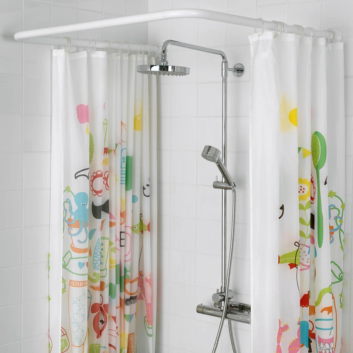 vikarn shower curtain rod white