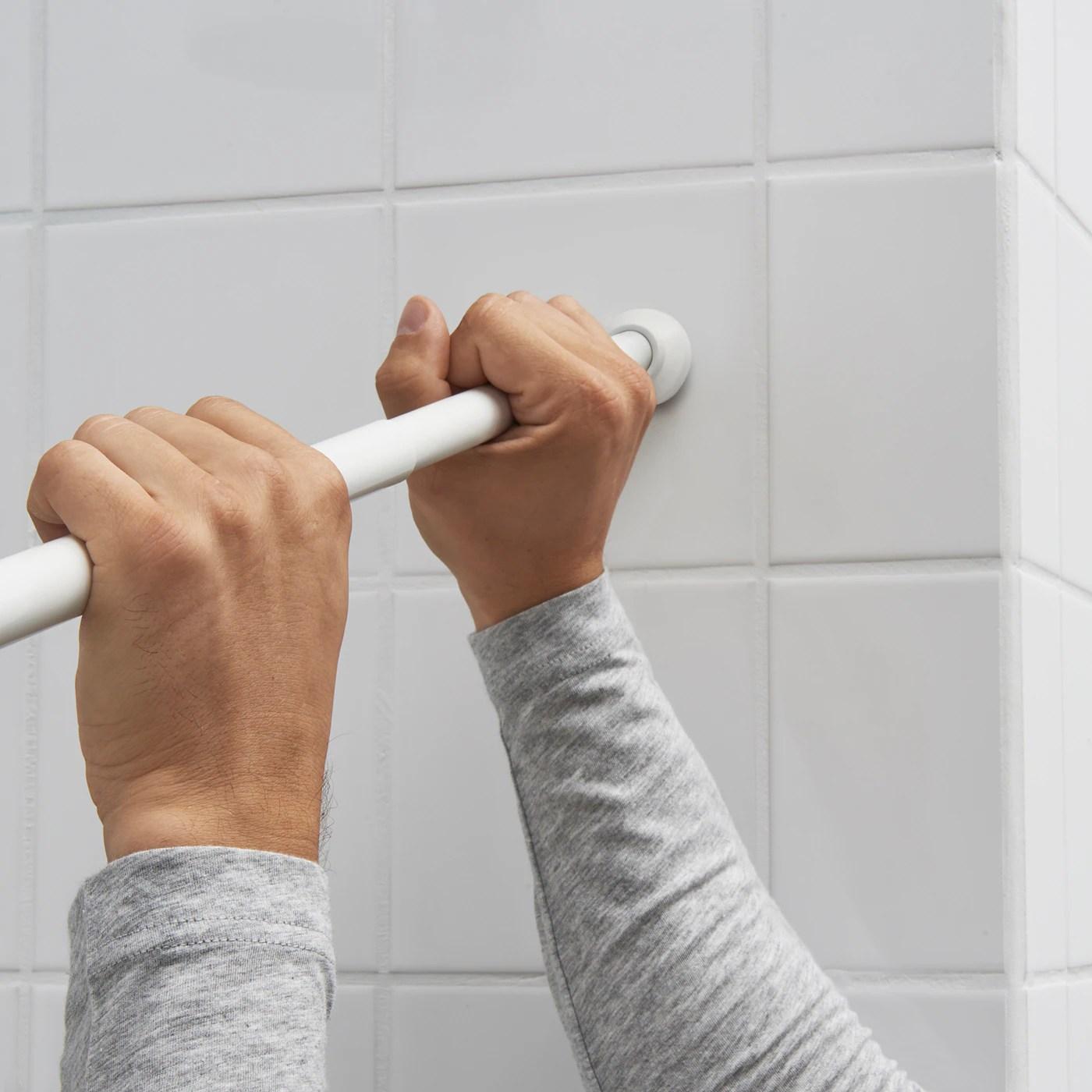 botaren tringle a rideau de douche blanc 70 120 cm