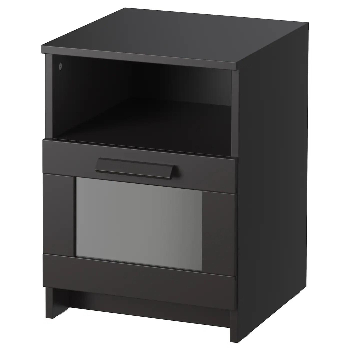 BRIMNES Cadre Lit Avec Rangement Noir 160 X 200 Cm IKEA