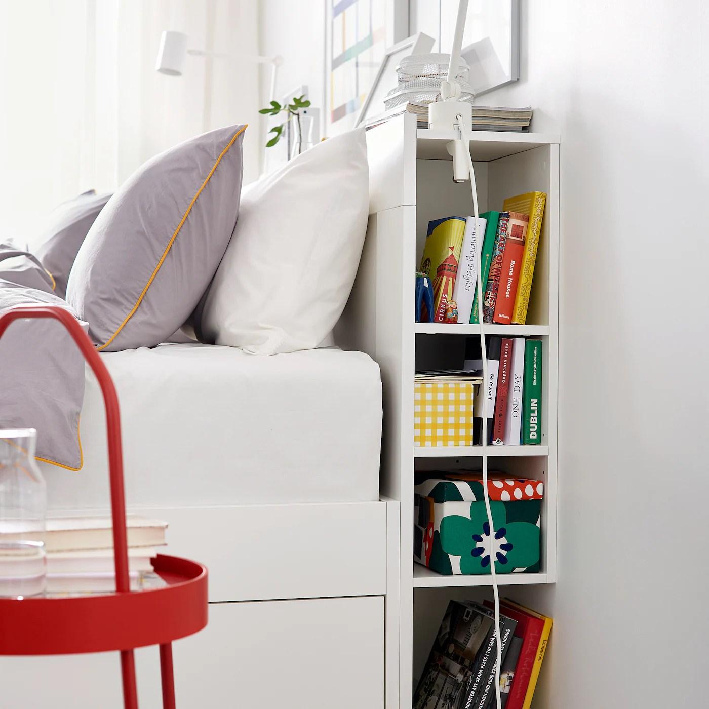 Brimnes Tete De Lit Avec Rangement Blanc 180 Cm Ikea