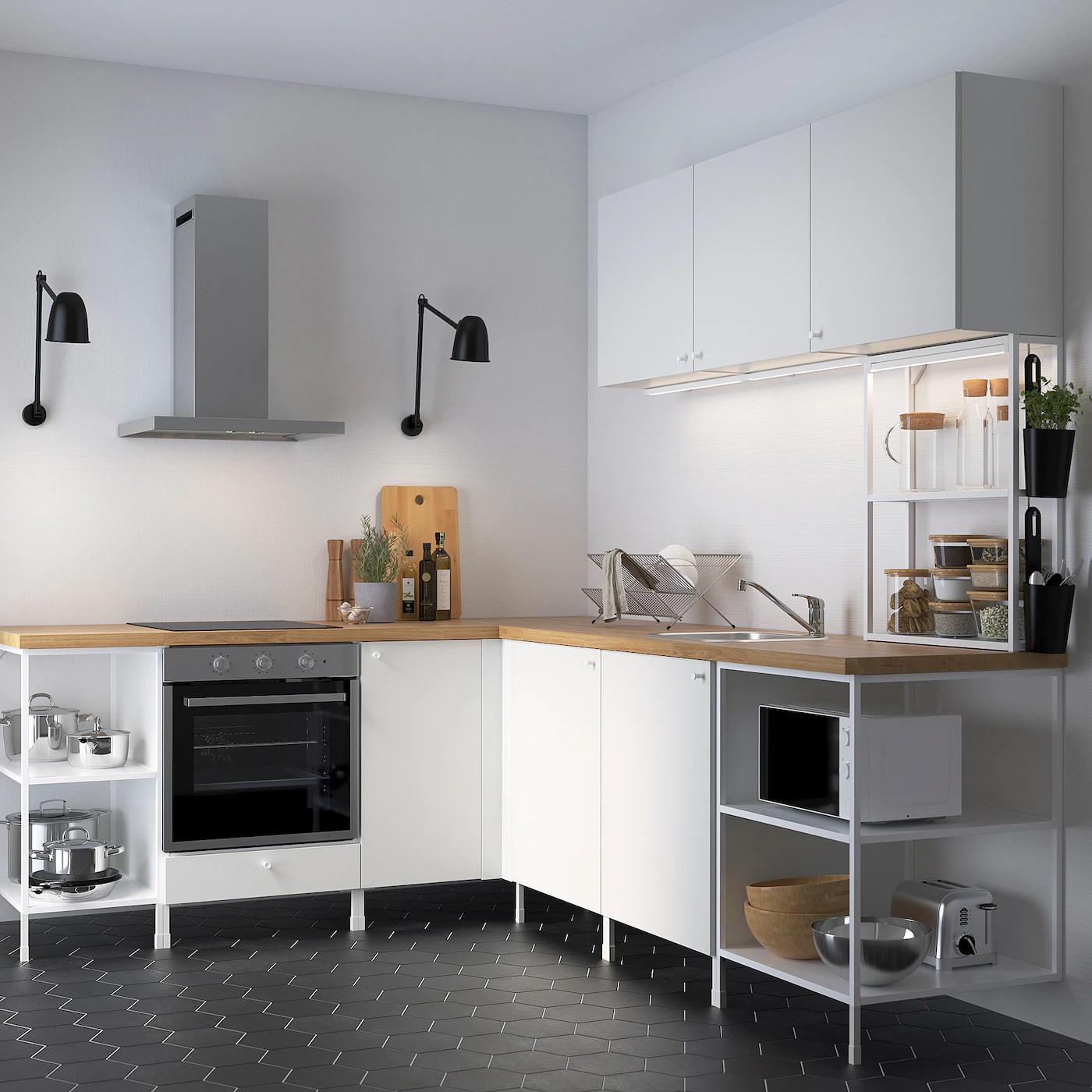 Enhet Cuisine D Angle Blanc Ikea