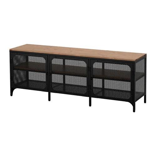 FJLLBO Banc TV Noir 150x54 Cm IKEA