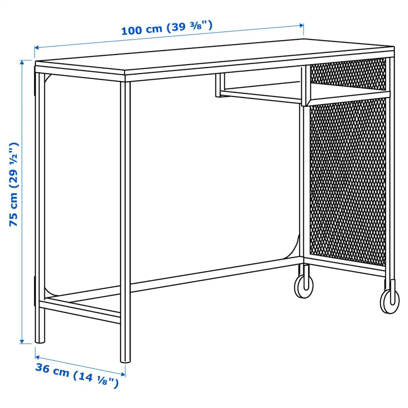 Fjallbo Table Ordinateur Portable Noir 100x36 Cm Ikea