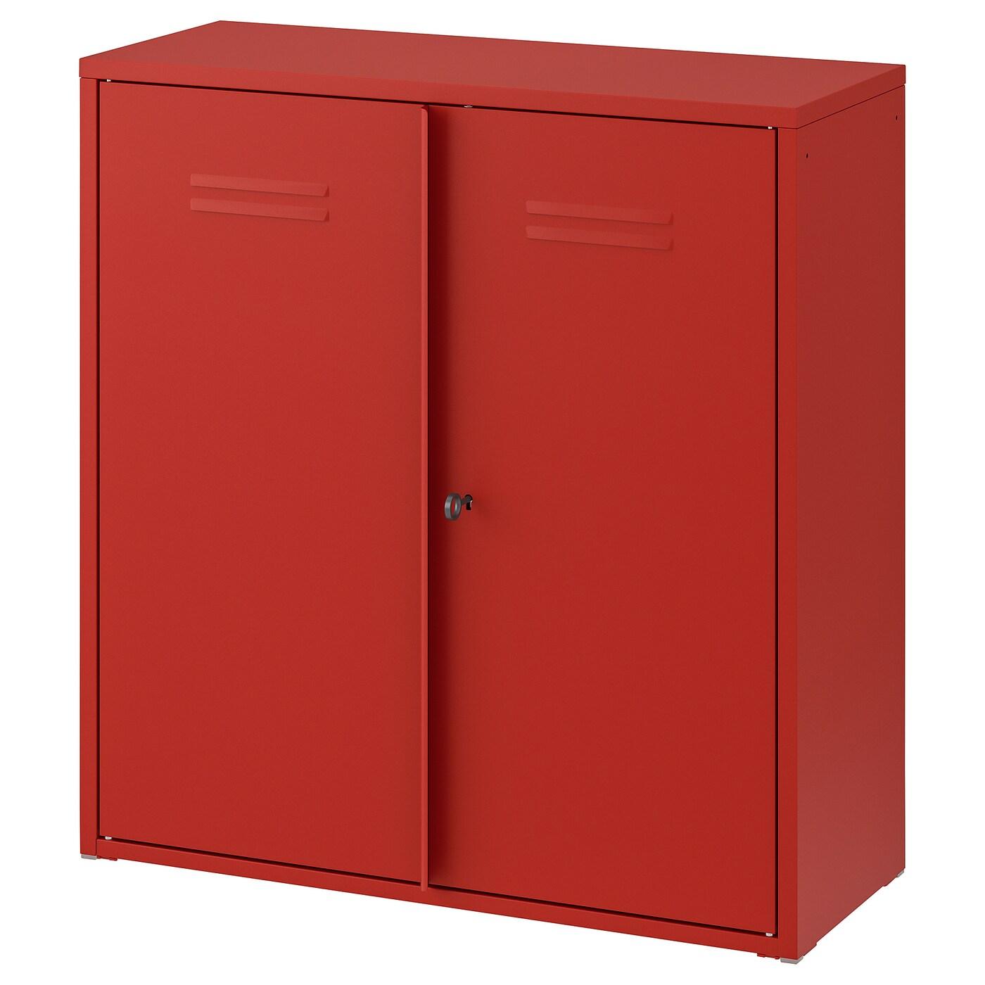 Ivar Armoire Avec Portes Rouge 80x83 Cm Ikea