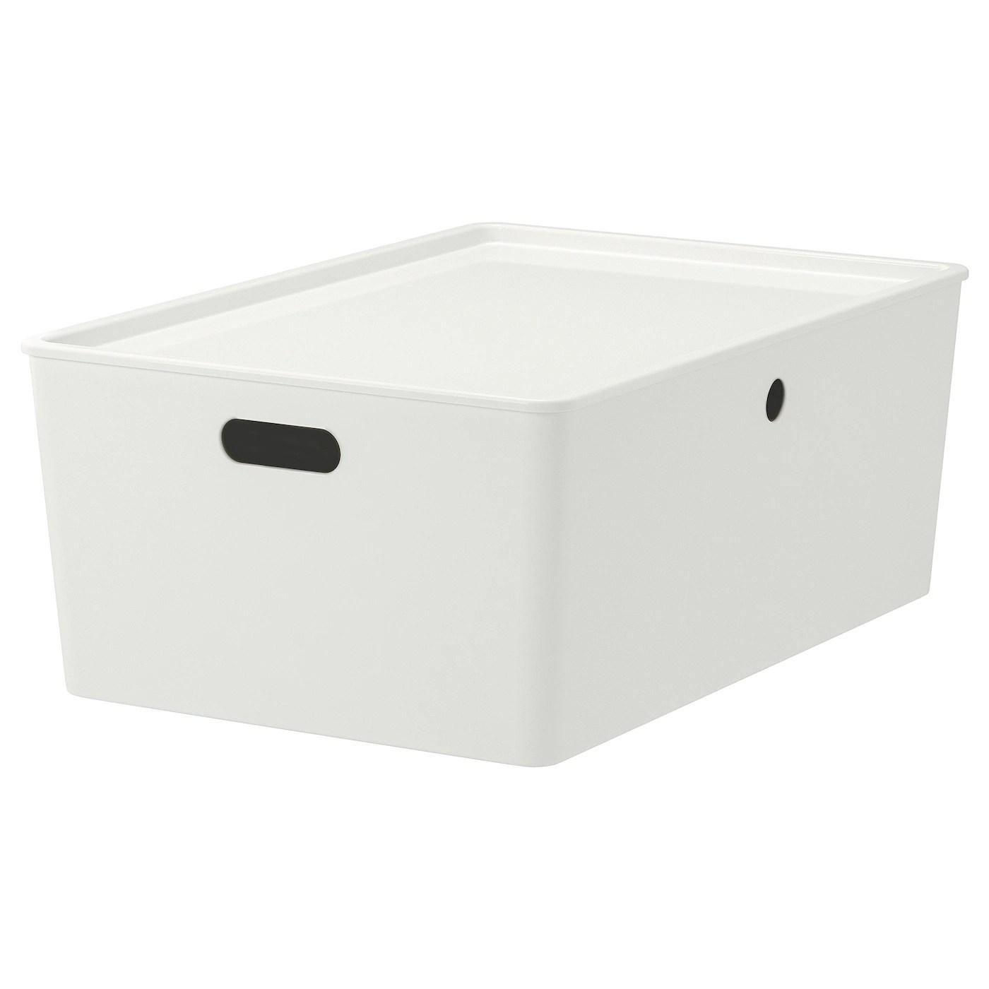 Kuggis Boite Avec Couvercle Blanc Achetez En Ligne Ou En Magasin Ikea