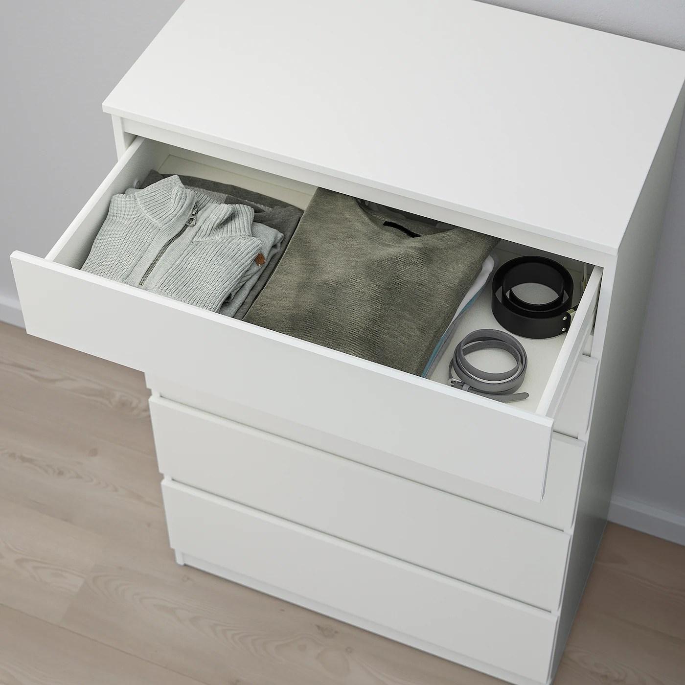 Kullen Commode 5 Tiroirs Blanc 70x112 Cm Ikea