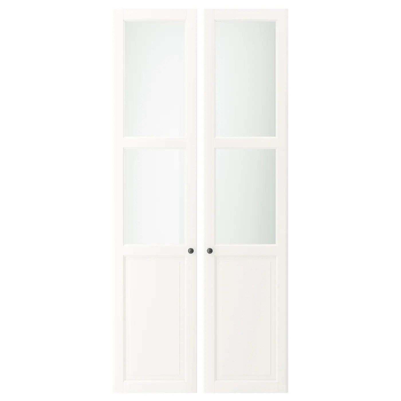 liatorp panneau porte vitree blanc 44x198 cm
