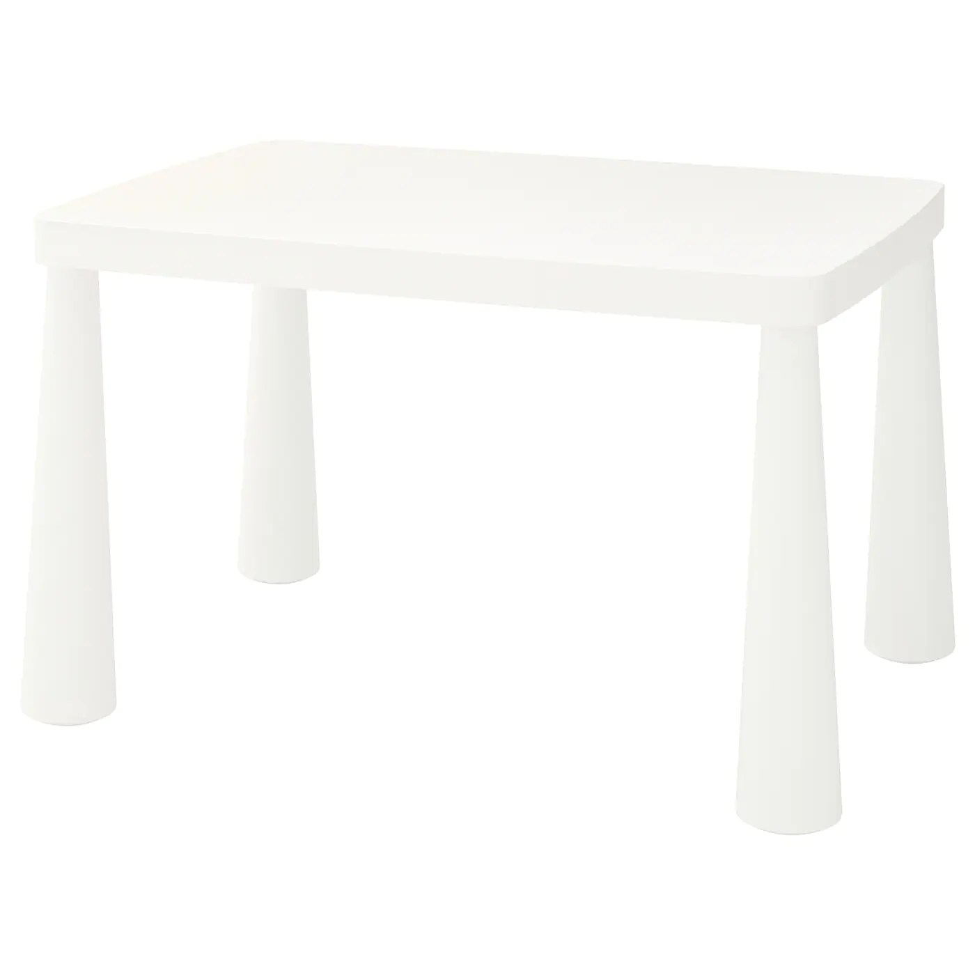 mammut table enfant interieur exterieur blanc 77x55 cm
