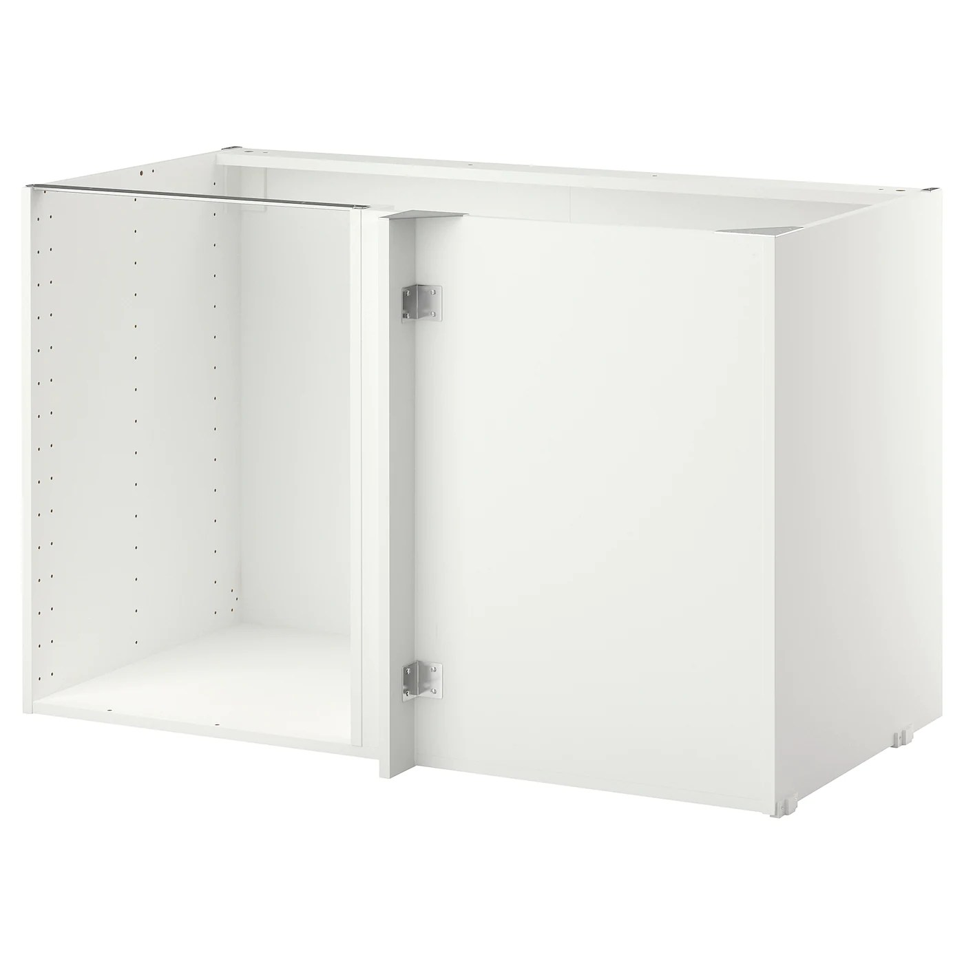 metod structure element bas d angle blanc 128x68x80 cm