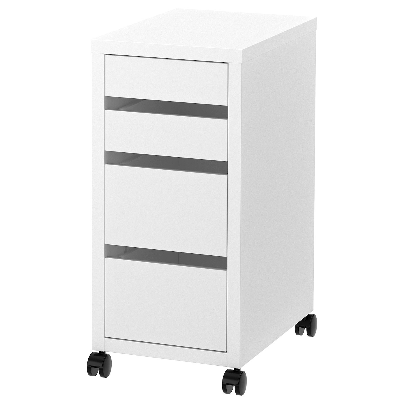 micke caisson a tiroirs sur roulettes blanc 35x75 cm