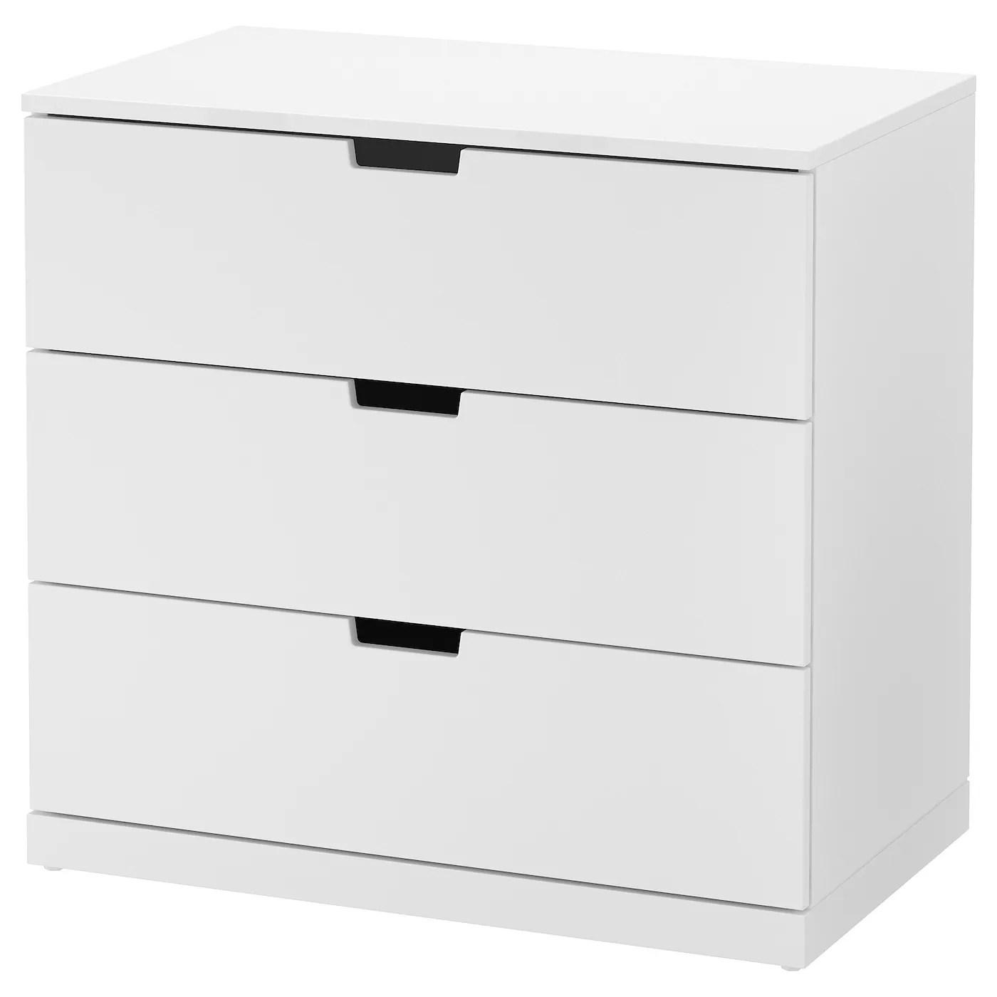 NORDLI Commode 3 Tiroirs Blanc 80 X 76 Cm IKEA