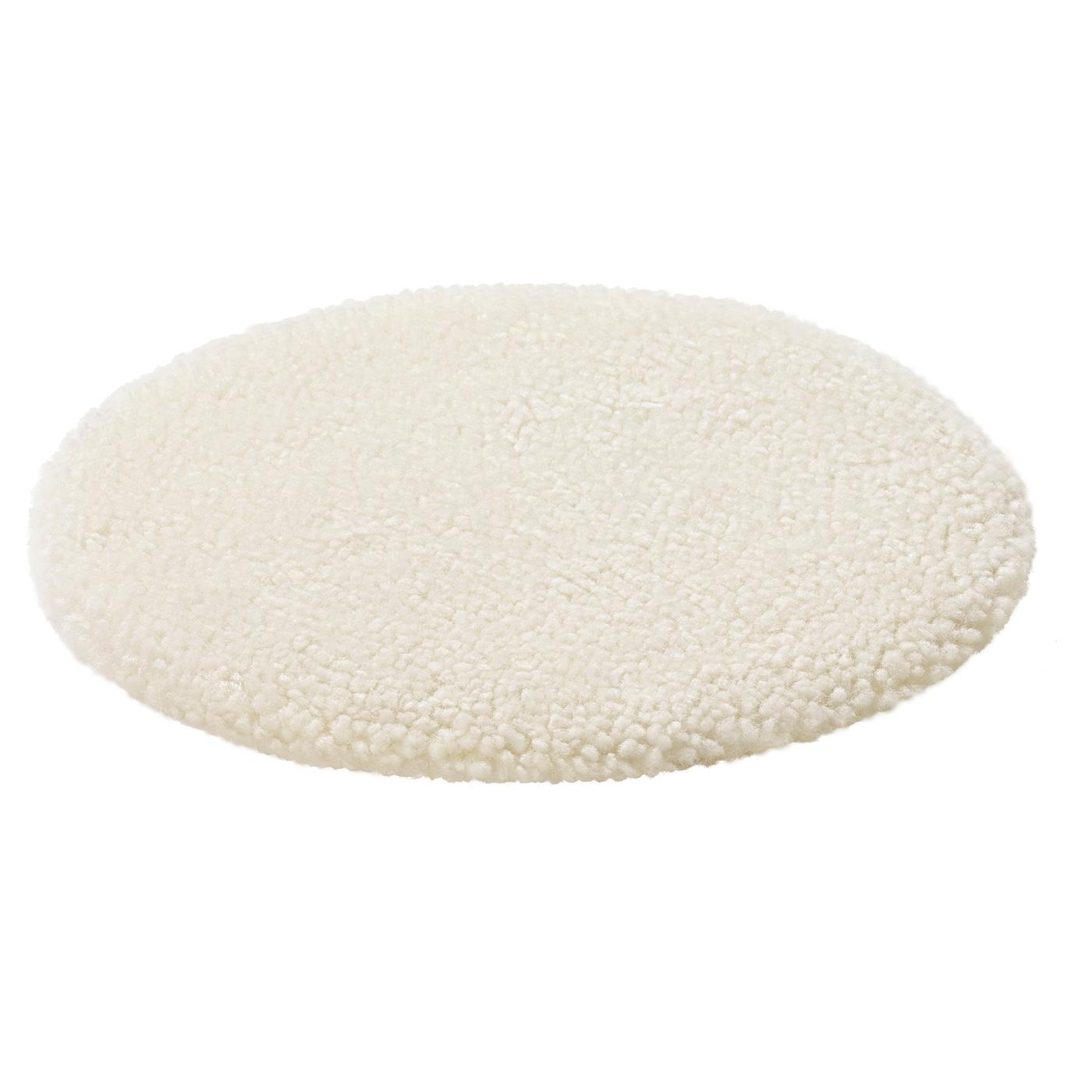steivor coussin chaise peau de mouton blanc casse 35 cm