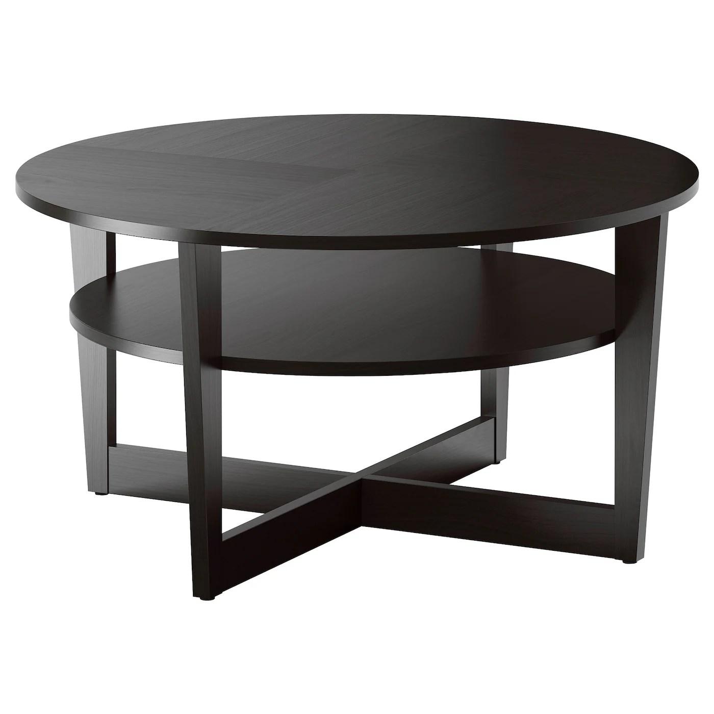 Vejmon Table Basse Brun Noir 90 Cm Ikea