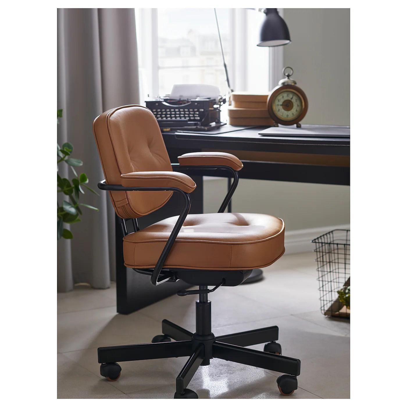 Alefjall Office Chair Grann Golden Brown Ikea