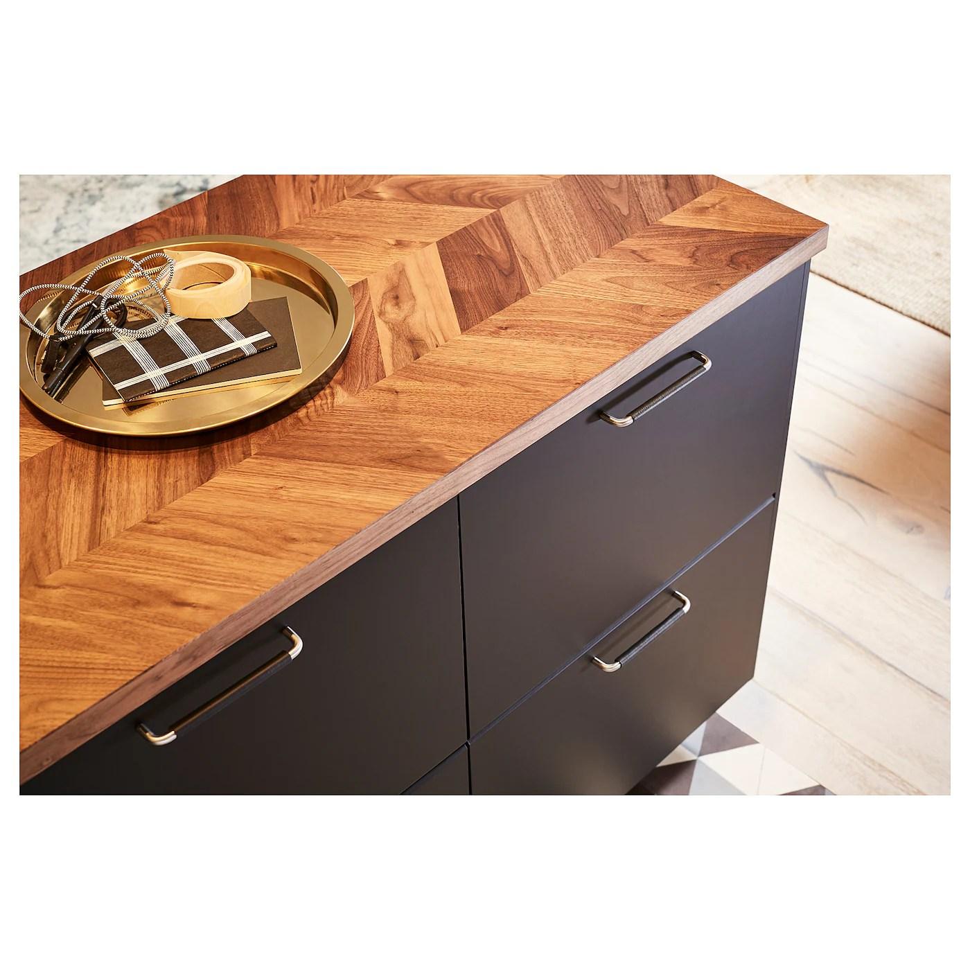 Barkaboda Countertop Walnut Veneer 98x11 2 249x3 8 Cm Ikea