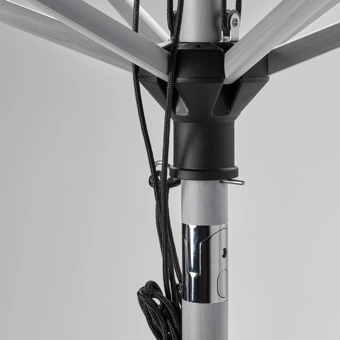 betso lindoja patio umbrella with base gray wood effect beige green gryto dark gray 118 1 8 300 cm