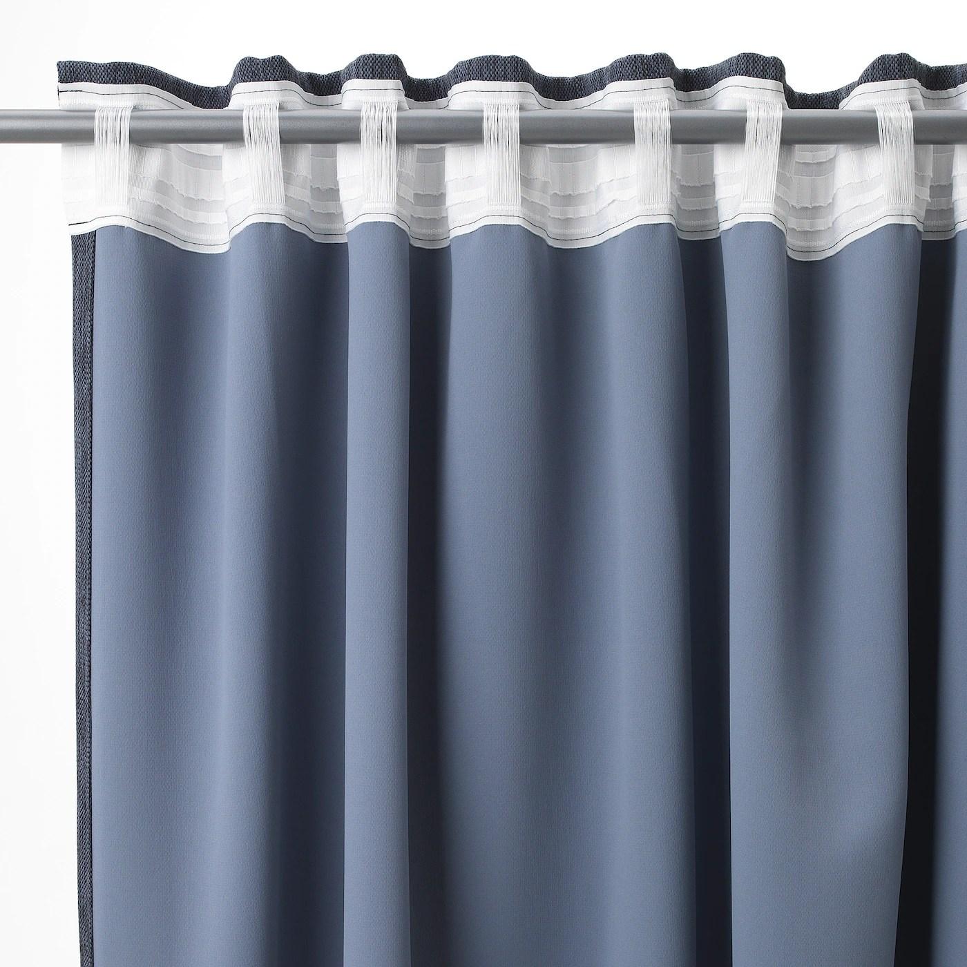 dagoga blackout curtains 1 pair blue gray 57x98 145x250 cm