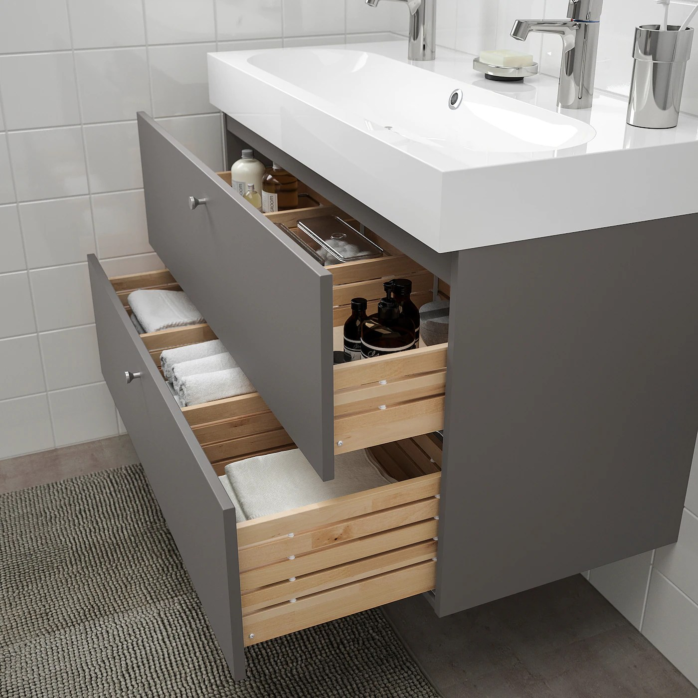 godmorgon bathroom vanity gillburen dark gray 39 3 8x18 1 2x22 7 8 100x47x58 cm