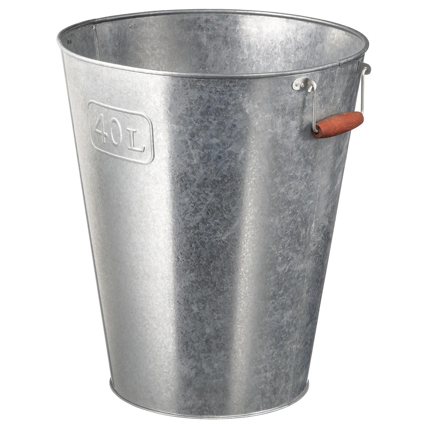 Graslok Plant Pot Indoor Outdoor Galvanized 12 32 Cm Ikea