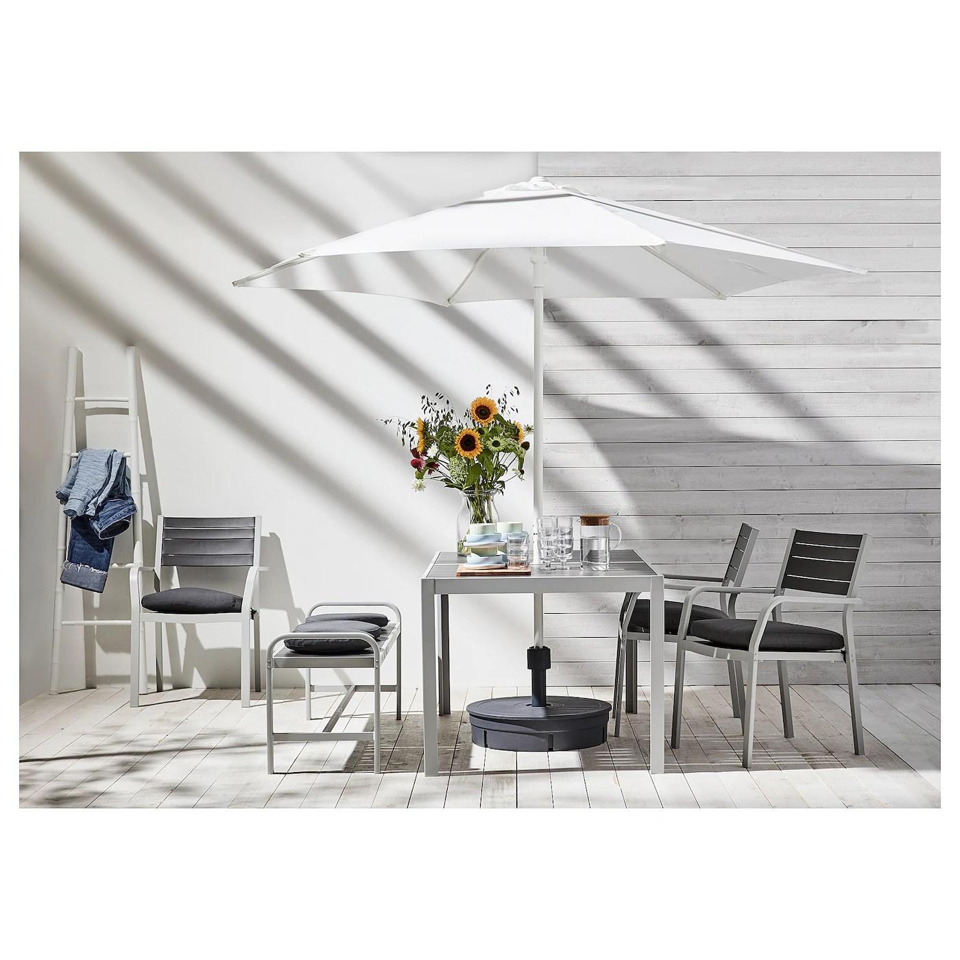 hogon patio umbrella with base white