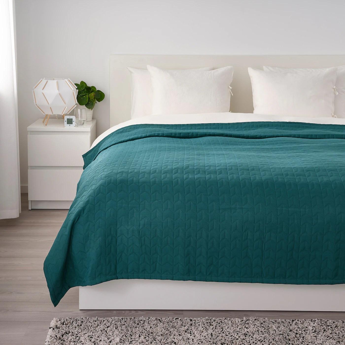 kolax bedspread dark green king