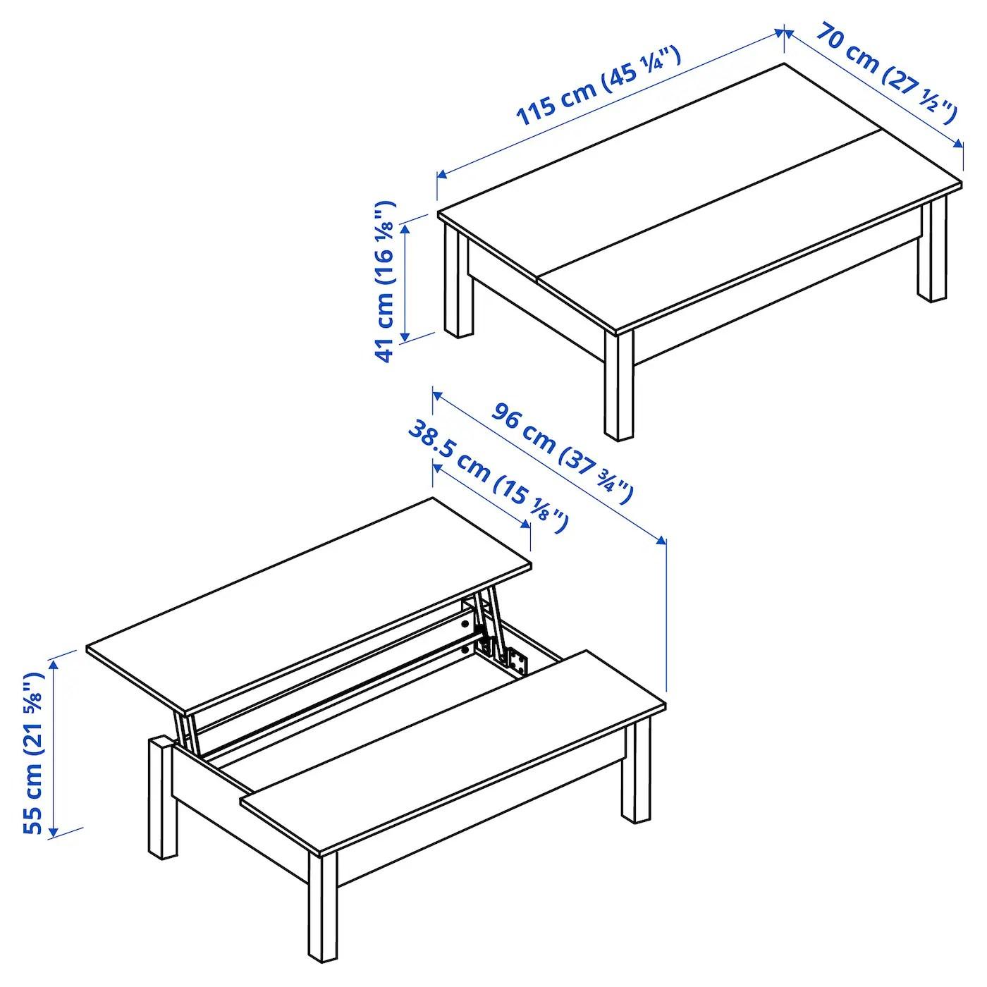 Trulstorp Coffee Table White 451 4x271 2 115x70 Cm Ikea