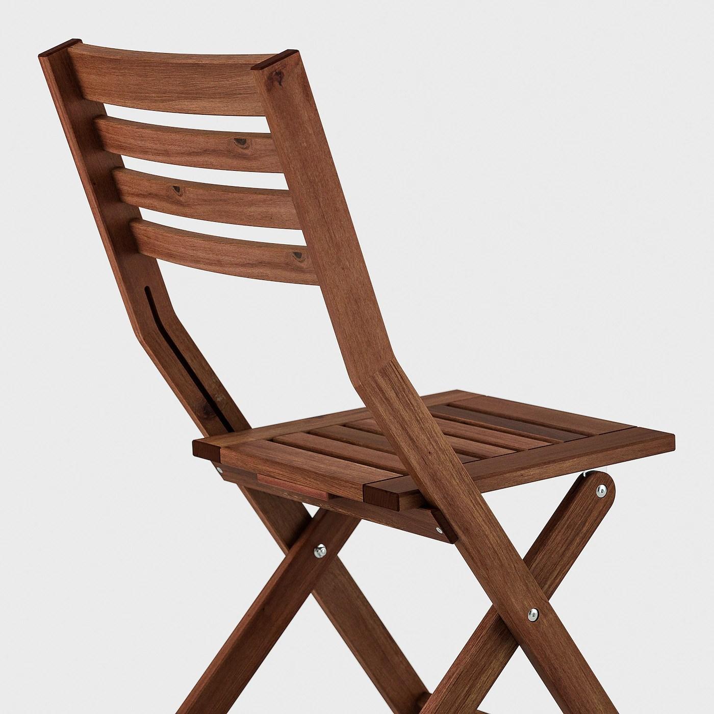applaro table 2 chaises pliantes exterieur teinte brun froson duvholmen gris fonce