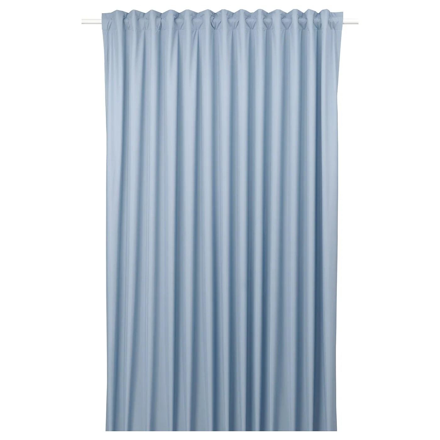 bengta rideau opaque 1 longueur bleu 83x98 210x250 cm