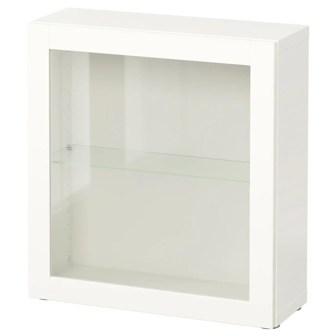 besta etagere avec porte vitree blanc sindvik verre transparent blanc 23 5 8x8 5 8x25 1 4 60x22x64 cm