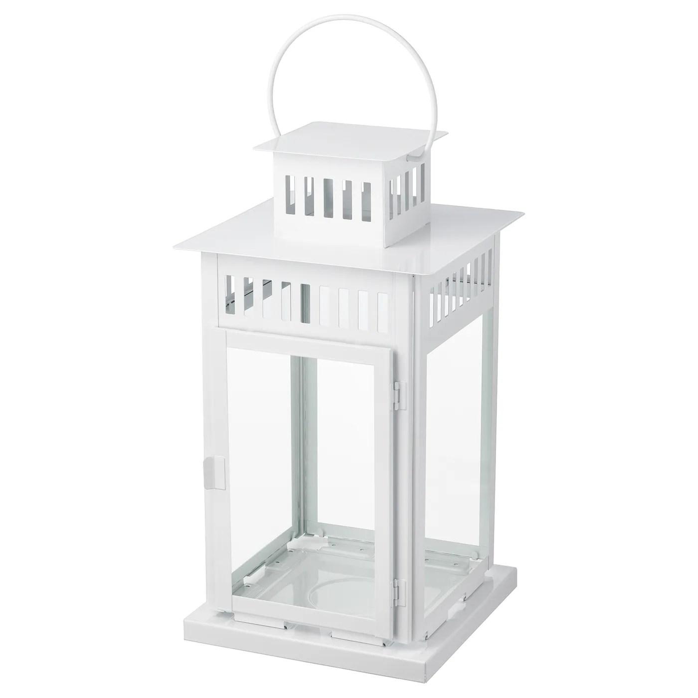 borrby lanterne pour bougie bloc interieur exterieur blanc 17 44 cm