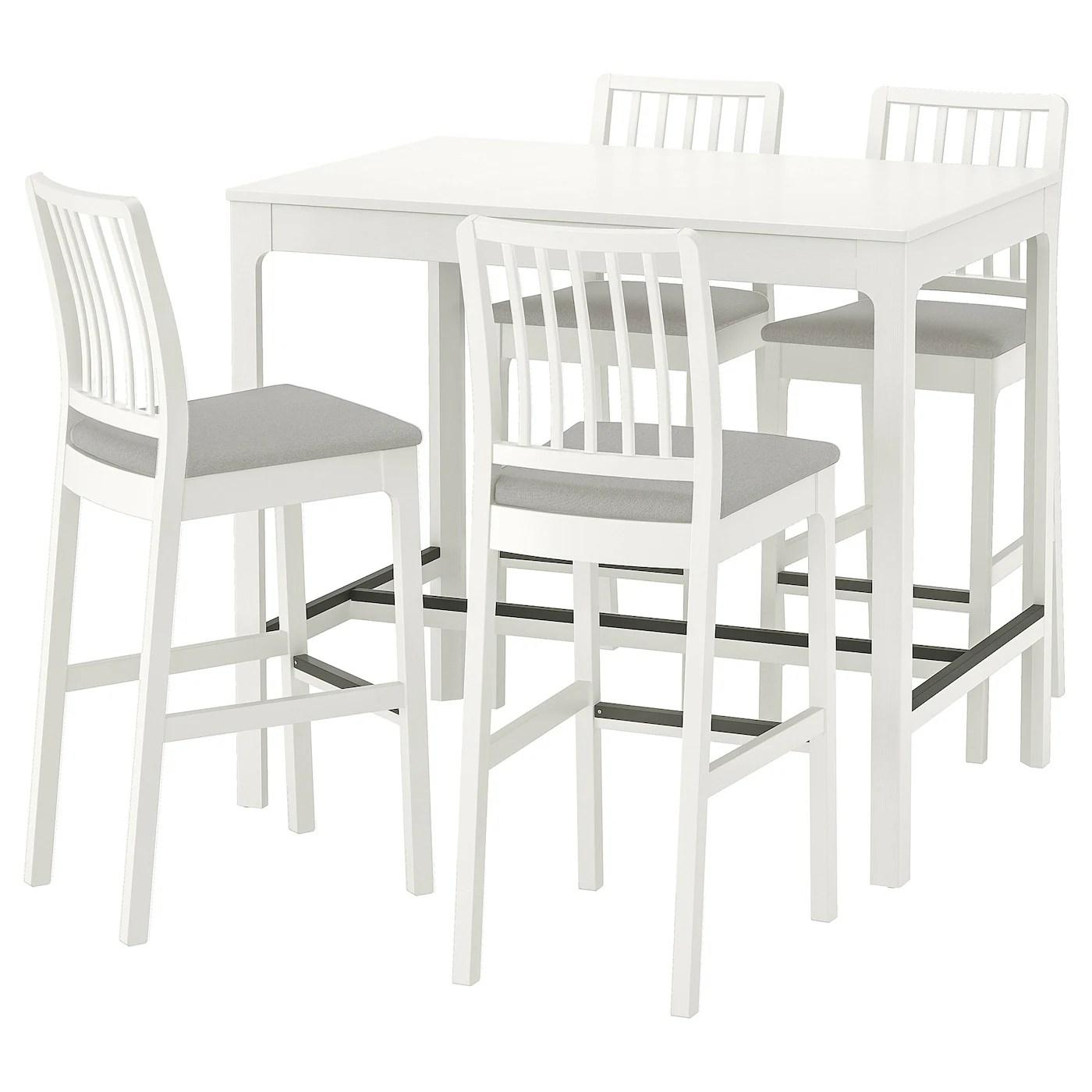 Ekedalen Ekedalen Table Haute 4 Tabourets Bar Blanc Orrsta Gris Clair Trouvez Le Ici Ikea