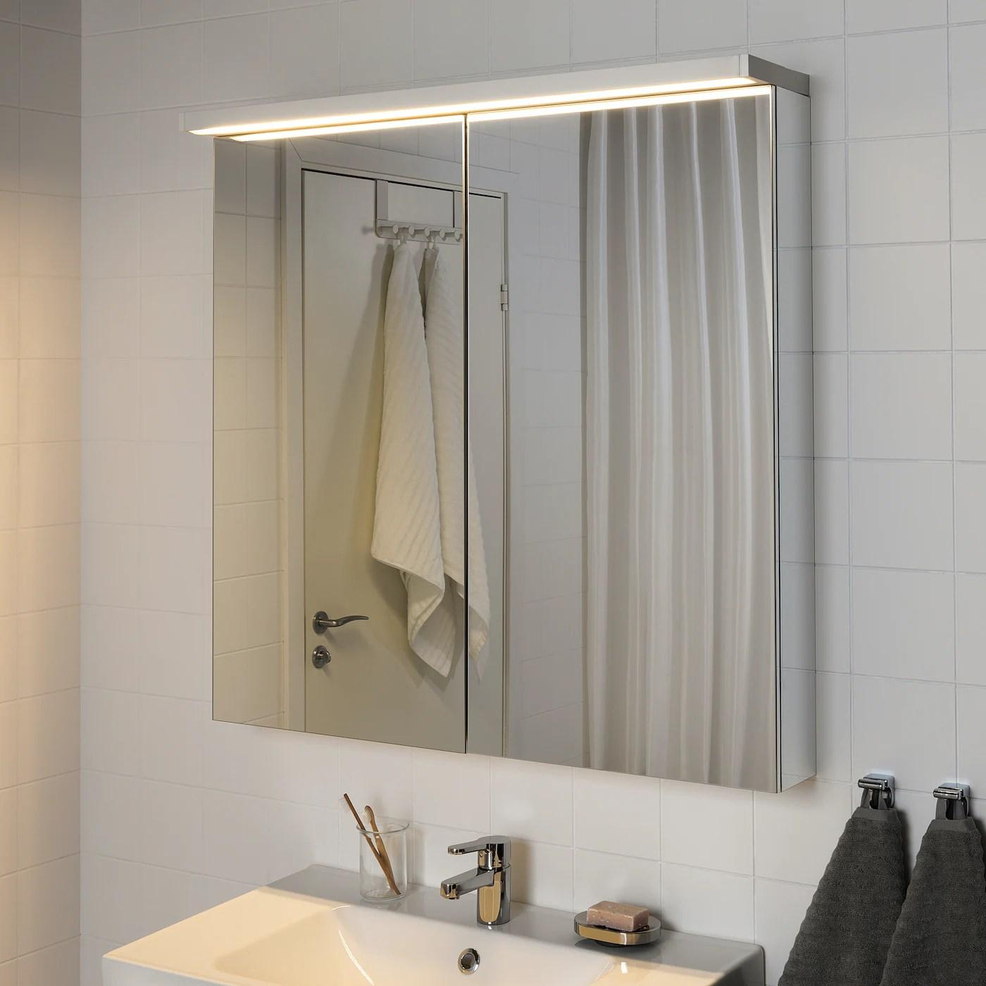 godmorgon eclairage armoire a del blanc 39 100 cm