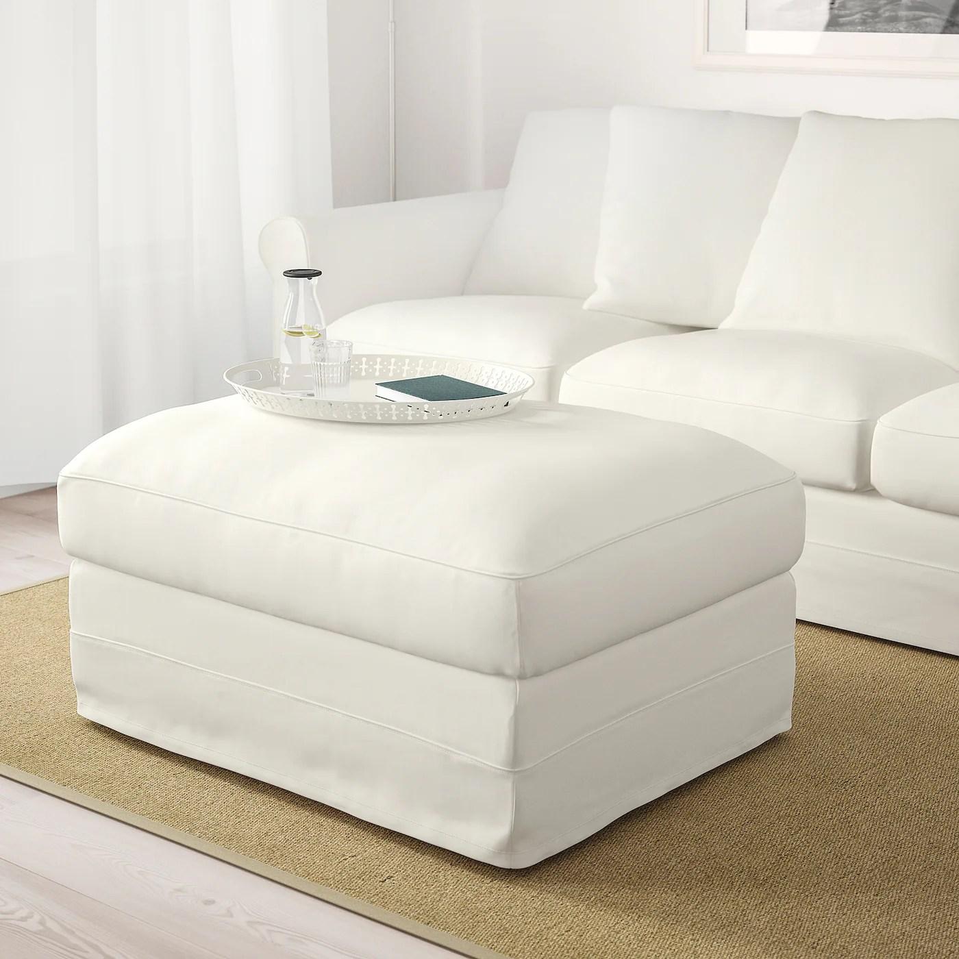 Harlanda Repose Pieds Av Rangement Inseros Blanc Magasinez Ici Ikea