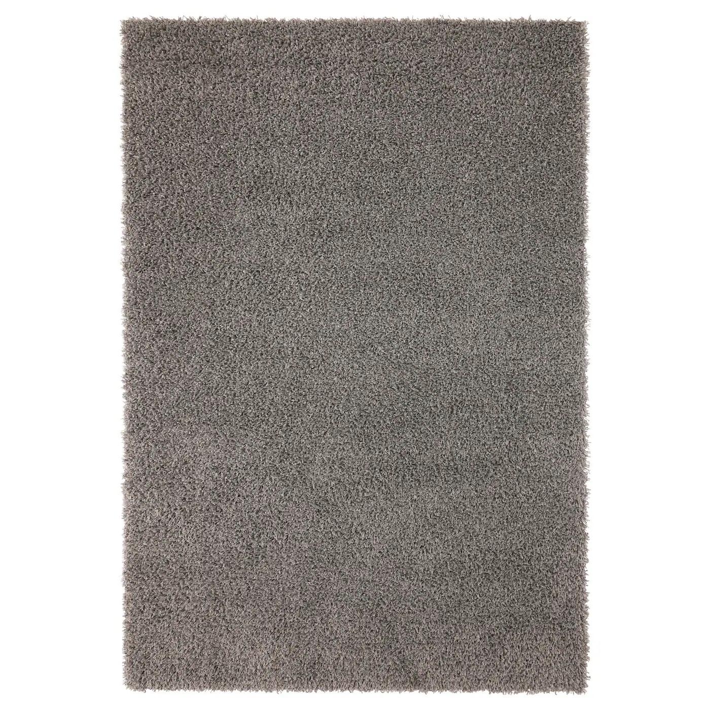 hampen tapis a poils longs gris 4 4 x6 5 133x195 cm