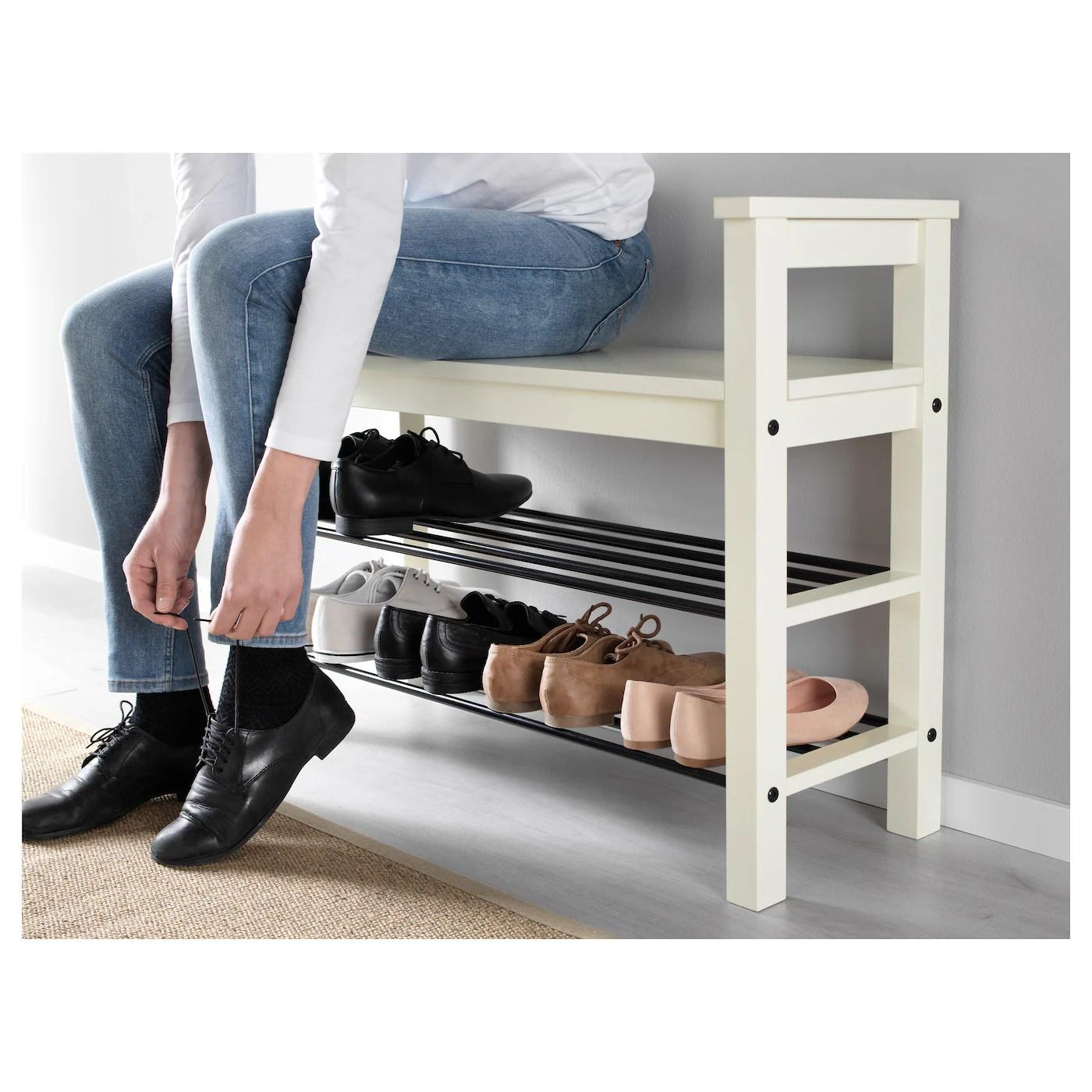 hemnes banc range chaussures blanc 33 1 2x12 5 8 85x32 cm