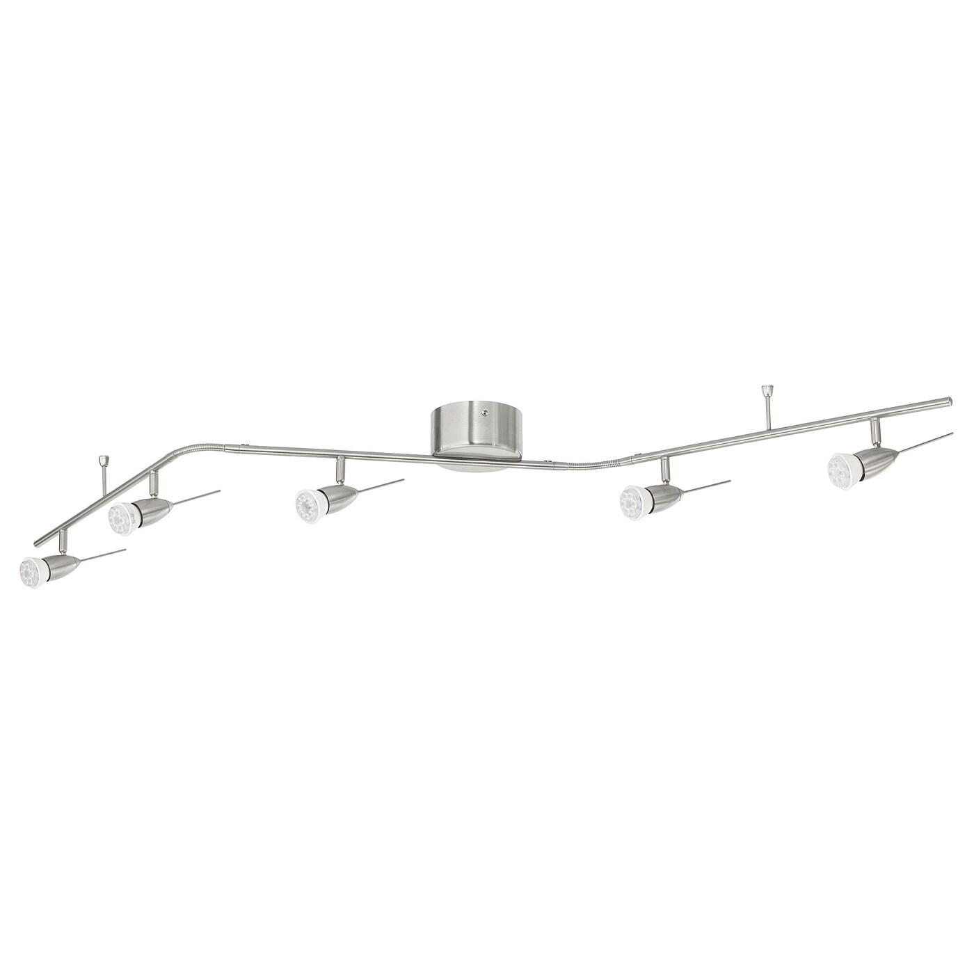 husinge rail pour 5 spots nickele