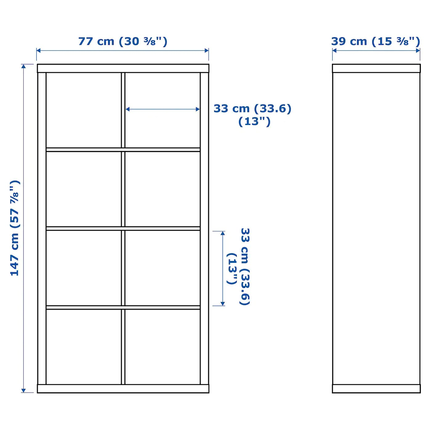 Kallax Etagere Blanc 303 8x577 8 77x147 Cm Ikea
