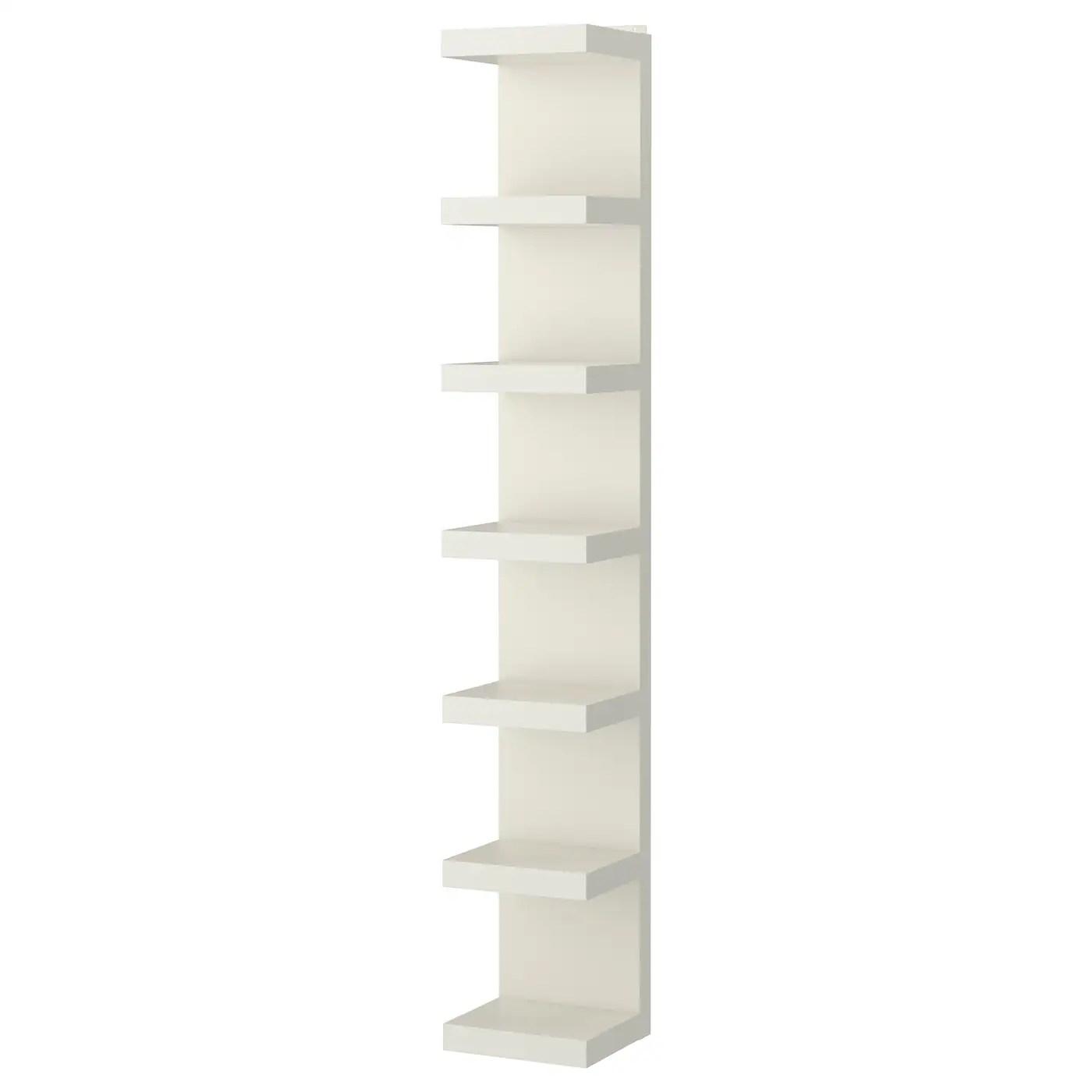 lack etagere murale blanc 11 3 4x74 3 4 30x190 cm