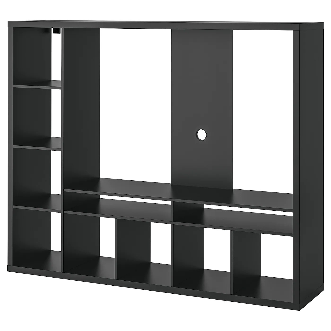 lappland meuble tele brun noir 72x15 3 8x57 7 8 183x39x147 cm
