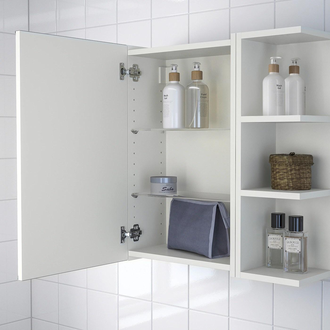 Lillangen Element Miroir 1pte 2etag Fin Blanc 78x21x64cm Magasinez Chez Ikea Ikea