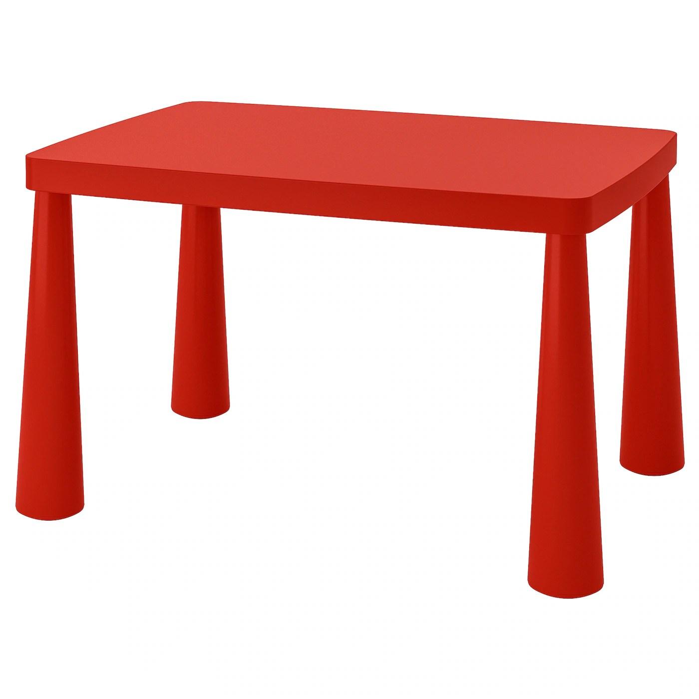 mammut table enfant interieur exterieur rouge 30 3 8x21 5 8 77x55 cm